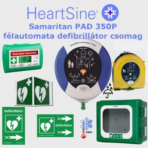 Ipari csomag: HeartSine Samaritan PAD 350P Fűtött por és vízálló tárolóval
