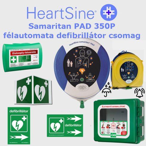 Ipari csomag: HeartSine Samaritan PAD 350P Por és vízálló tárolóval