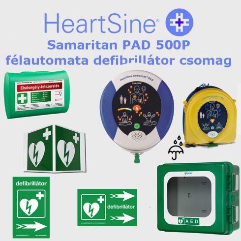 Ipari csomag: HeartSine Samaritan PAD 500P Por és vízálló tárolóval