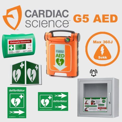 Irodai csomag: CardiacScience (automata) fém AED tárolóval