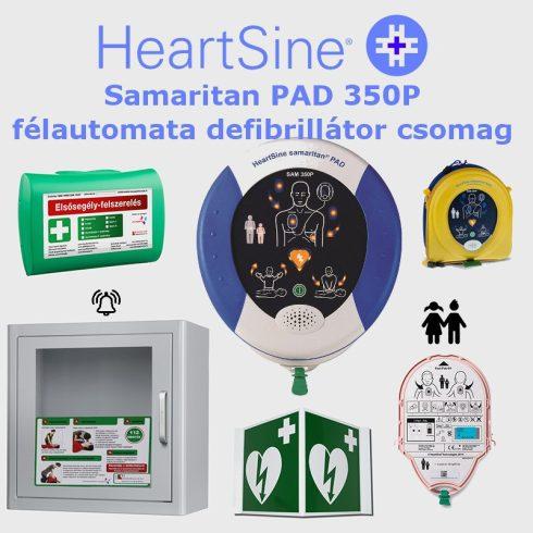 Iskola (gyermek) csomag: HeartSine Samaritan PAD 350P Riasztós AED tárolóval