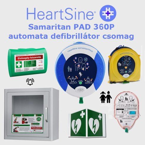 Iskola (gyermek) csomag: HeartSine Samaritan PAD 360P Riasztós AED tárolóval
