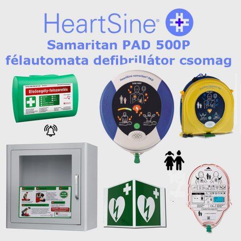 Iskola (gyermek) csomag: HeartSine Samaritan PAD 500P Riasztós AED tárolóval