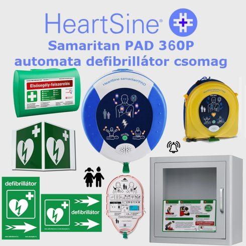 SPORT (gyermek) csomag: HeartSine Samaritan PAD 360P Riasztós AED tárolóval