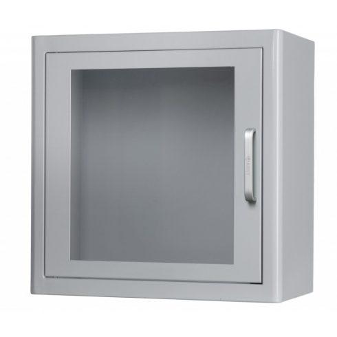 Beltéri fehér riasztós fali szekrény AED defibrillátor tárolásához