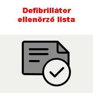 Defibrillátor ellenörző lista